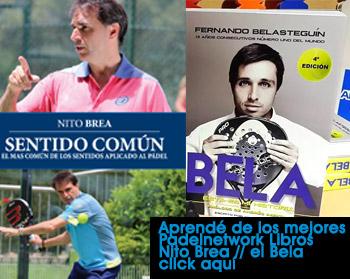 Los libros de Nito Brea y El Bela en Padelnetwork.com